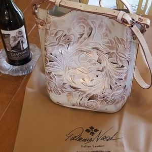 Patricia Nash handbag tooled leather.